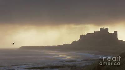 Northumbrian Photograph - Bamburgh Castle In The Rain by Tony Higginson