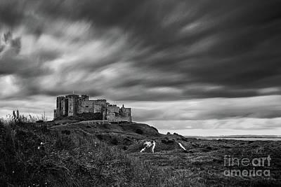 Lindisfarne Photograph - Bamburgh Castle by John Farnan