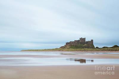 Northumbrian Photograph - Bamburgh Reflections by Tony Higginson