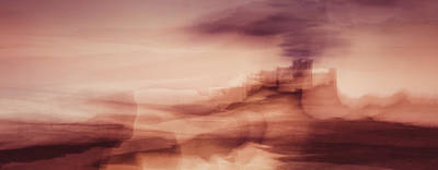 Intentional Camera Movement Photograph - Bamburgh Smoke by Chris Dale