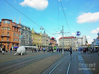 Photograph - Ban Josip Jelacic Square - Zagreb, Croatia by Jasna Dragun