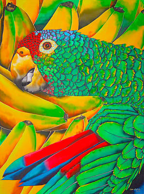 Banana Amazon - Exotic Bird Art Print