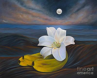 Painting - Moonlight Genesis by Birgit Seeger-Brooks