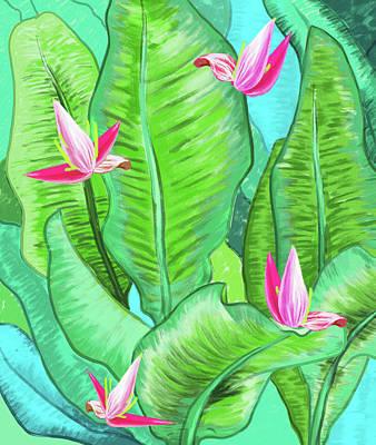 Painting - Banana Floral by Uma Gokhale