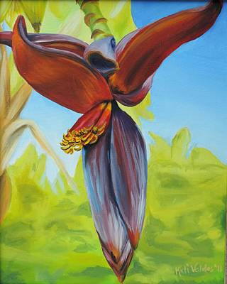 Banana Flower Art Print by Katiana Valdes