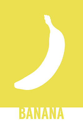 Banana Mixed Media - Banana Food Art Minimalist Fruit Poster Series 001 by Design Turnpike