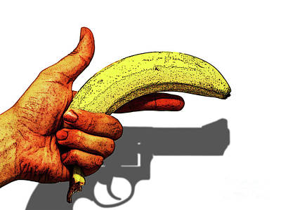 Photograph - Banana Hand Gun by Toula Mavridou-Messer