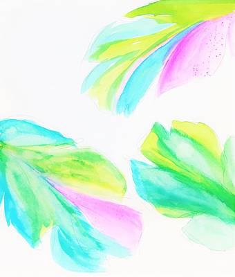Banana Leaf - Neon Art Print by Marianna Mills