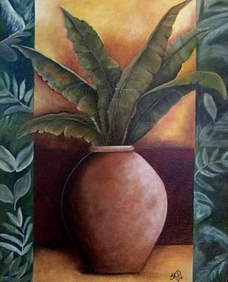 Painting - Banana Leaf Palm by Susan Dehlinger