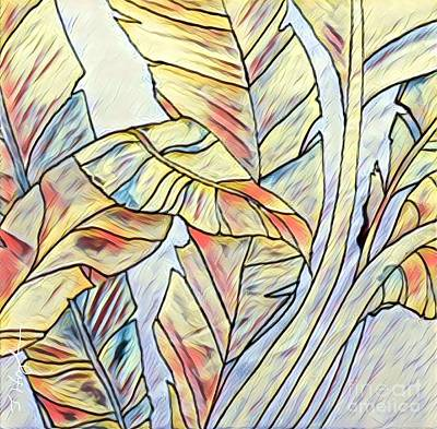 Painting - Banana Leaves by Julie Hoyle