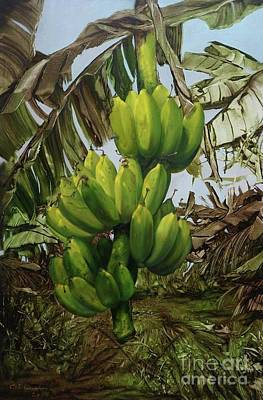 Painting - Banana Tree by Chonkhet Phanwichien