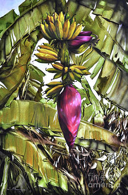 Painting - Banana Tree No.2 by Chonkhet Phanwichien
