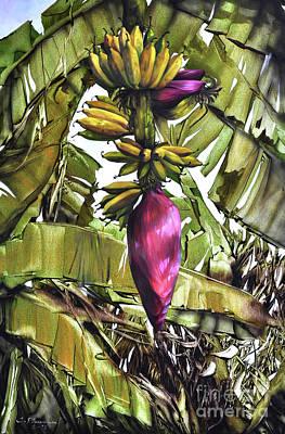 Painting - Banana Tree No.2 by Chonkhet Phanwichien