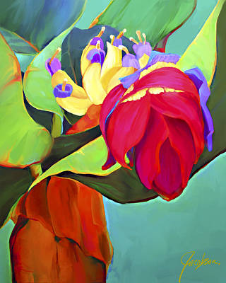 Painti Painting - Banana Tree Teal by Jackie Jacobson