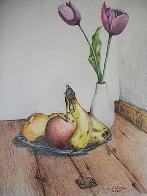 Naturmort Painting - Banana by Unal Anac