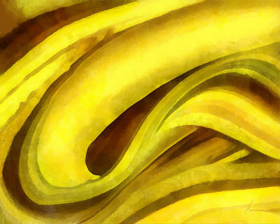 Banana With Chocolate Art Print
