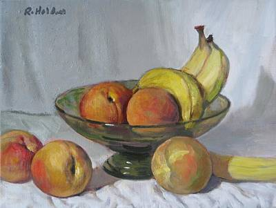 Painting - Bananas And Peaches by Robert Holden