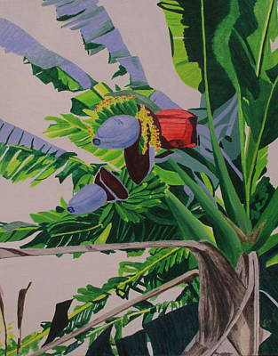 Painting - Bananas by Hilda and Jose Garrancho
