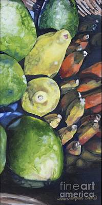 Painting - Bananas Mangos And Papayas by Terri Thompson