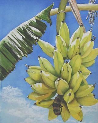 Wall Art - Painting - Bananas by Terry Arroyo Mulrooney