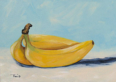 Yellow Bananas Painting - Bananas by Torrie Smiley