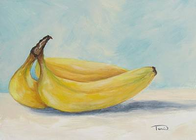 Yellow Bananas Painting - Bananas V by Torrie Smiley