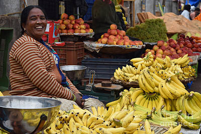 Photograph - Bananas With A Smile by Mini Arora