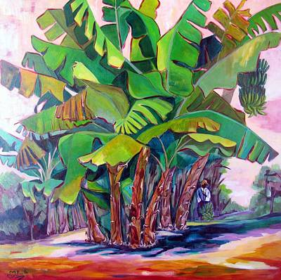 Antilles Painting - Bananeraie by Cathy Belleville