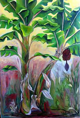 Antilles Painting - Bananier Rouge by Cathy Belleville