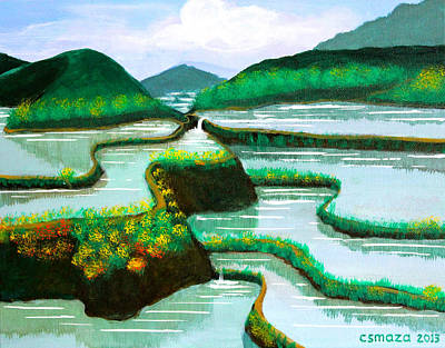 Filipino Artist Painting - Banaue by Cyril Maza