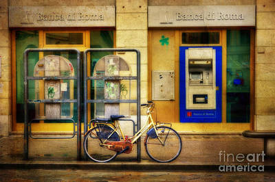 Photograph - Banca Roma Bicycle by Craig J Satterlee