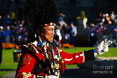 Marching Band Photograph - Band Leader by David Lee Thompson