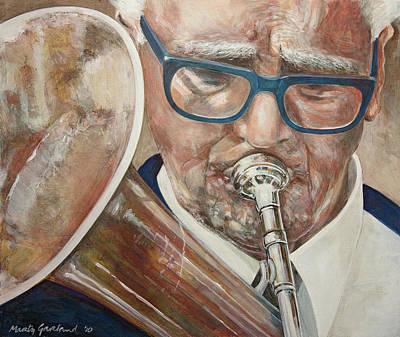 Band Man Art Print by Marty Garland