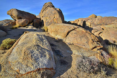 Photograph - Banded Boulder At Sunset In The Alabama Hills by Ray Mathis