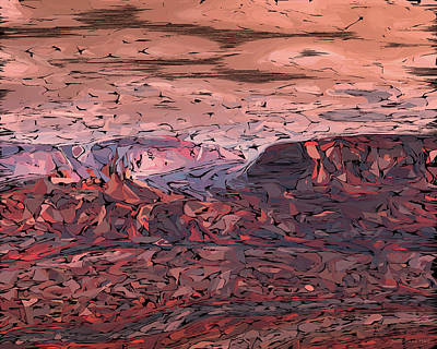 Digital Art - Banded Canyon Abstract by Judi Suni Hall