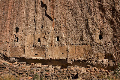 Photograph - Bandelier Cliff Dwellings by Stuart Litoff