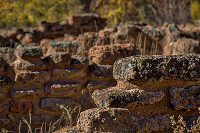 Photograph - Bandelier Wall Ruins #2 by Stuart Litoff