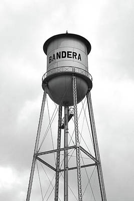 Photograph - Bandera Texas Water Tower by Art Block Collections