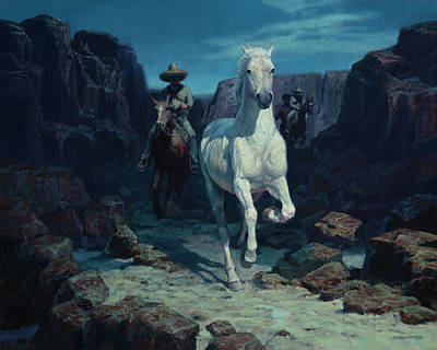 Painting - Bandidos Rustling Rg Well's Horses by Sheila Cottrell
