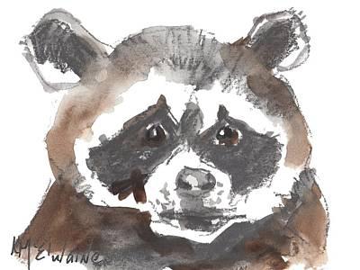 Painting - Bandit Raccoon by Kathleen McElwaine