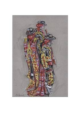 Bandolero Boys Or Chicos De Los Bandoleros Art Print