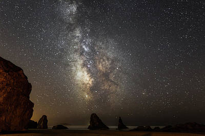 Photograph - Bandon And Milky Way by Jay Moore