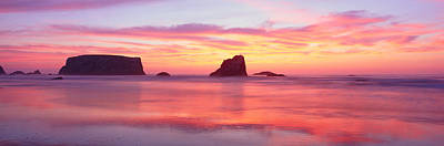 Sublime Photograph - Bandon Beach At Sunset, Oregon by Panoramic Images