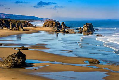 Beach Royalty-Free and Rights-Managed Images - Bandon Beach by Darren  White
