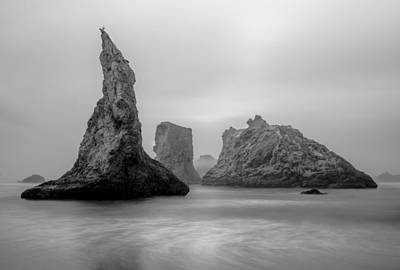 Photograph - Bandon Beach In The Fog by Joe Doherty