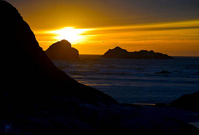 Photograph - Bandon Beach Solstice Sunset by Michele Avanti