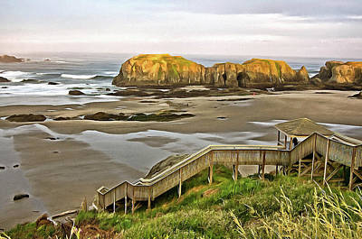 Photograph - Bandon Beach Stairway by Thom Zehrfeld