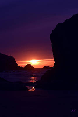 Photograph - Bandon Beach Sunset by Michele Avanti