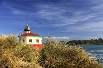 Photograph - Bandon Coquille River Lighthouse by James Eddy