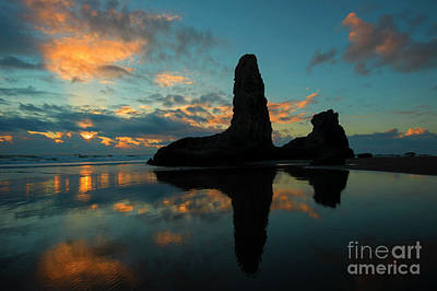Photograph - Bandon Mirror by Mike Dawson